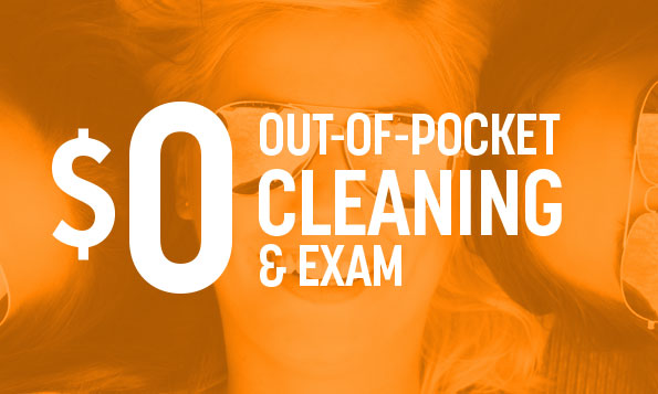 special offer on out-of-pocket teeth cleaning and exam